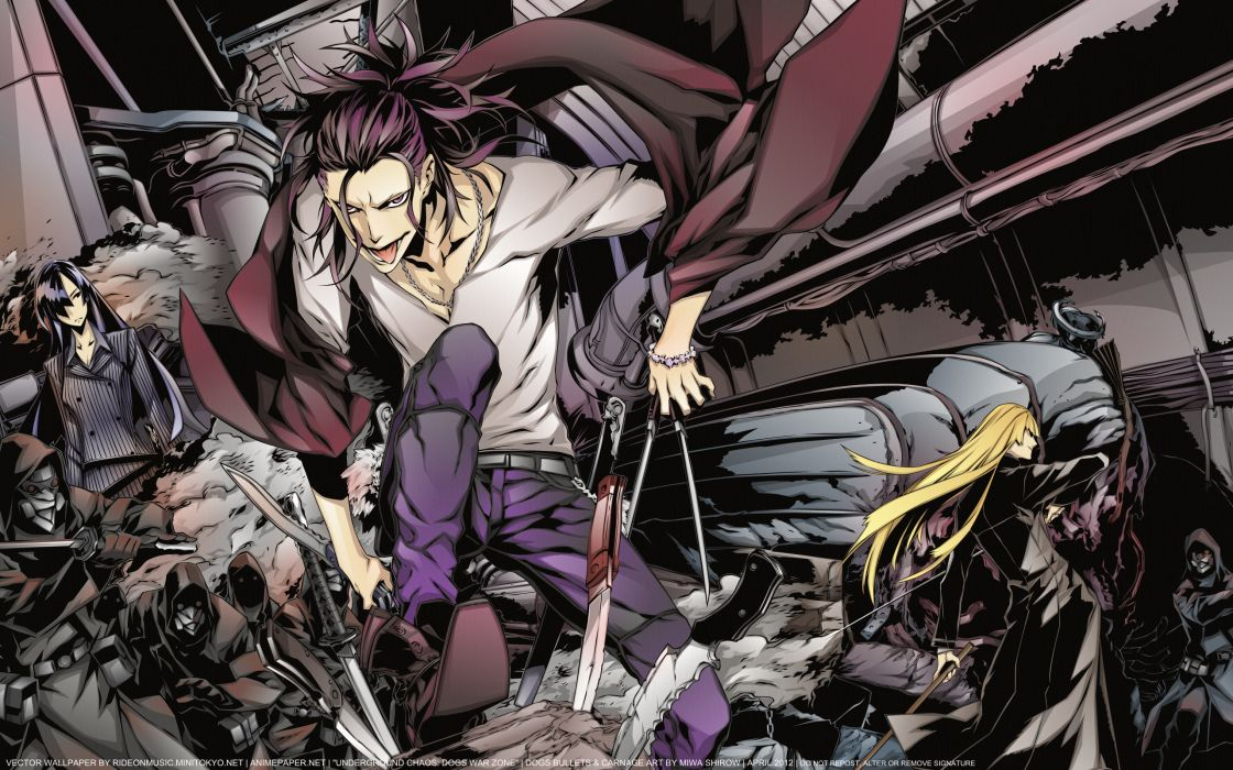 dogs bullets & carnage knife miwa shirow sword tagme weapon wallpaper
