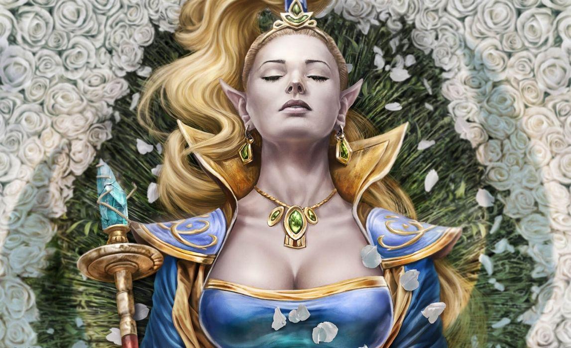 EverQuest 2 Destiny of Velious queen elf women fantasy females blonde wallpaper