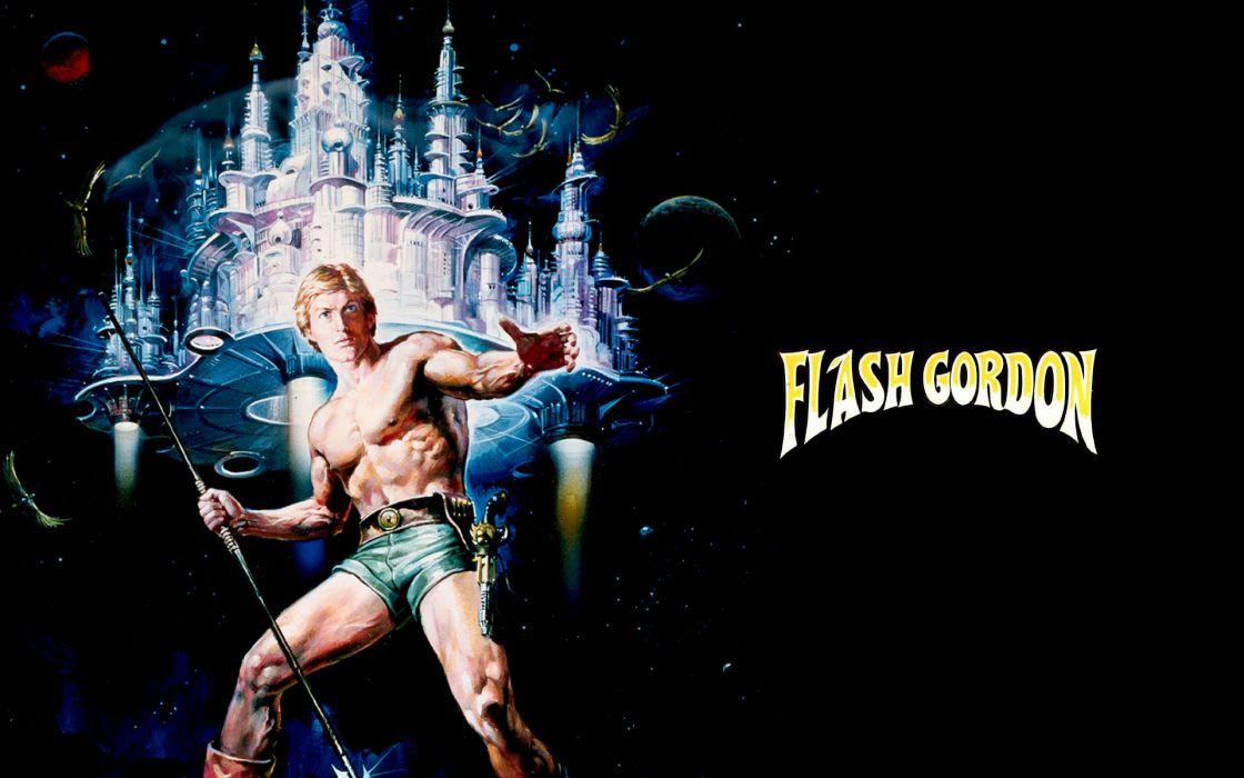Flash Gordon Black Warrior Superhero Sci Fi Comics Space Cities Spaceship Text Logo Wallpaper 1920x1200 72434 Wallpaperup