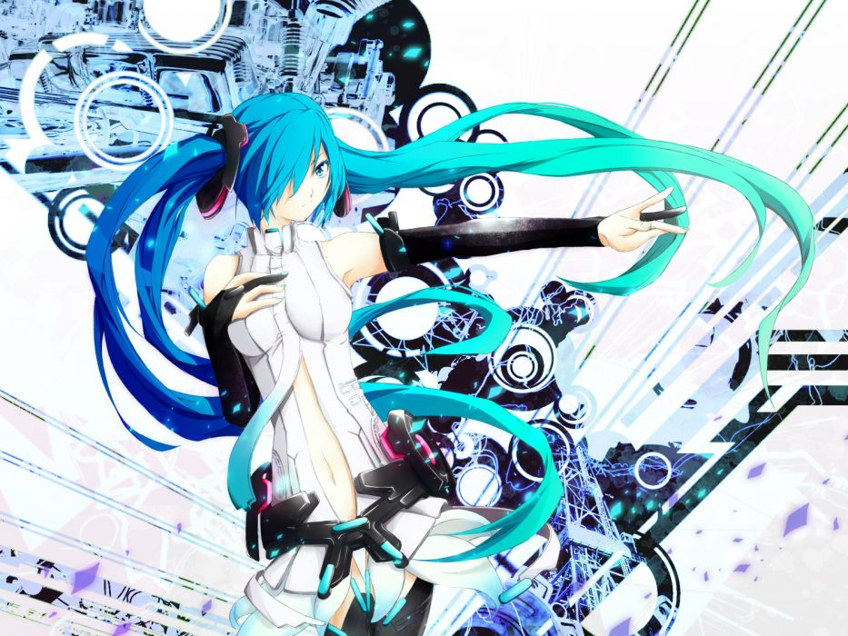 hatsune miku miku append mujun (zipper) vocaloid wallpaper