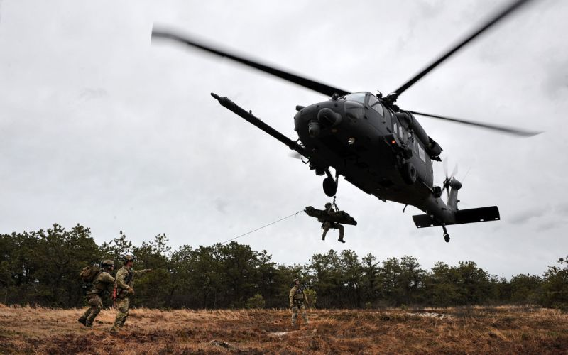 Helicopter Repel Soldier military wallpaper