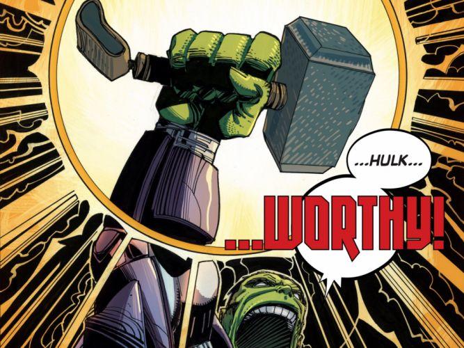 Hulk The Hulk Hammer Mjolnir Marvel wallpaper