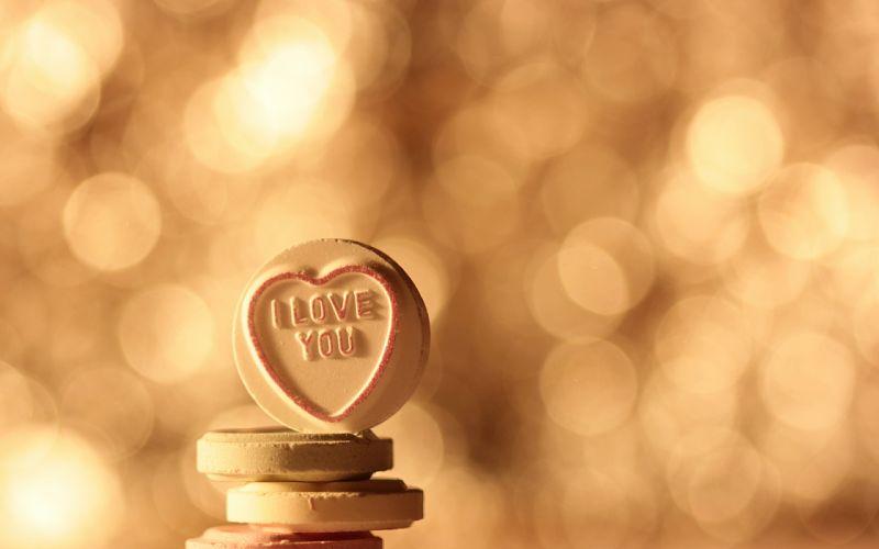Love Candy Bokeh Heart mood wallpaper