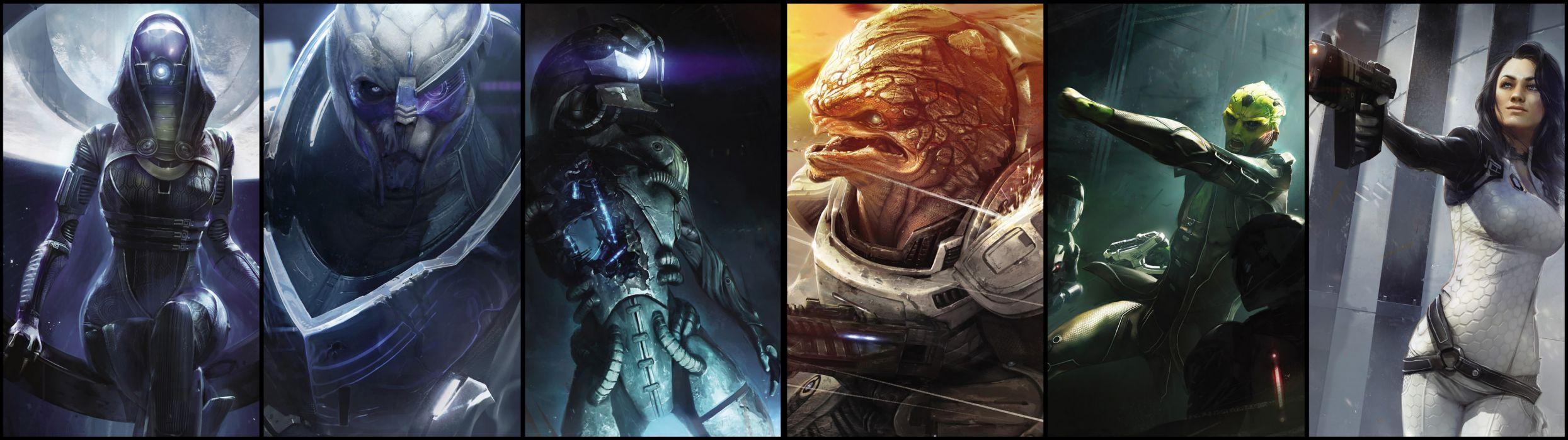 Mass Effect sci-fi multi dual wallpaper