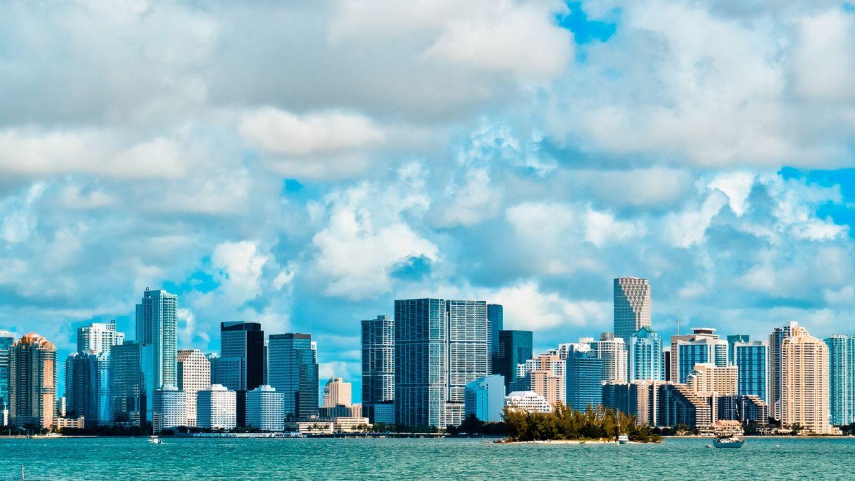 miami usa america sky clouds buildings flats florida florida skyscraper wallpaper