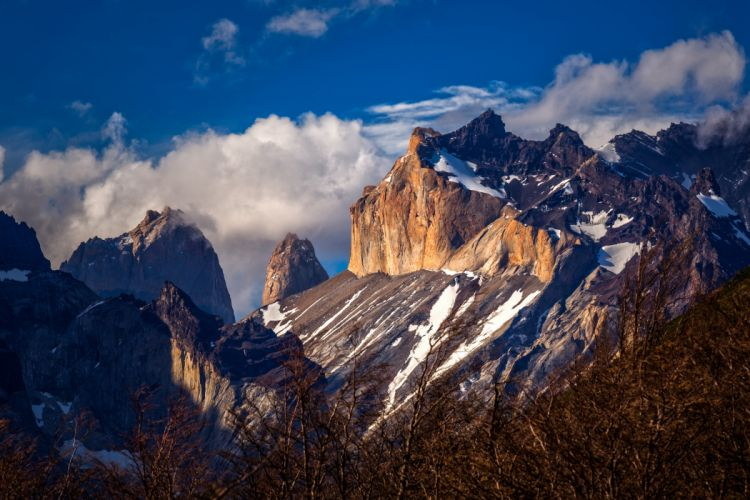Mountains Scenery Chile Sky Patagonia Crag Nature wallpaper