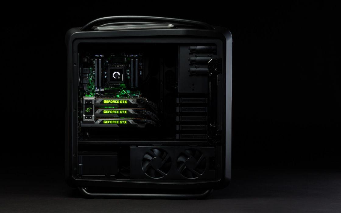 PC Nvidia GeForce GTX Titan black powerful stylish computer wallpaper