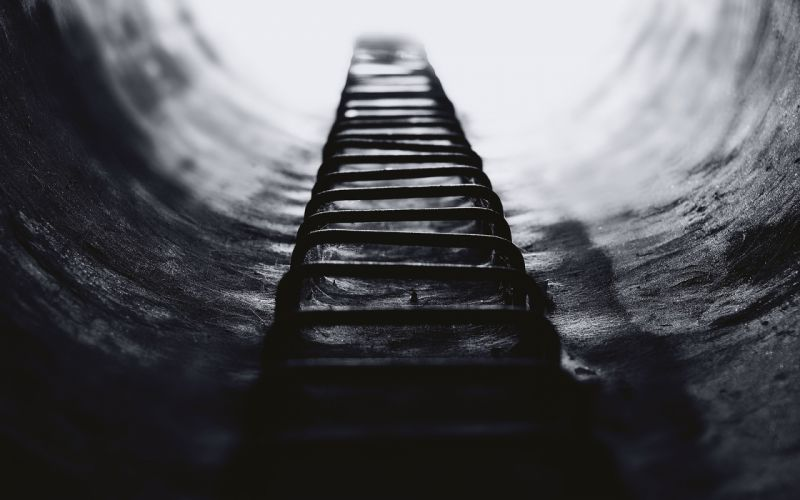 Stairs Steps BW Macro mood black white light wallpaper