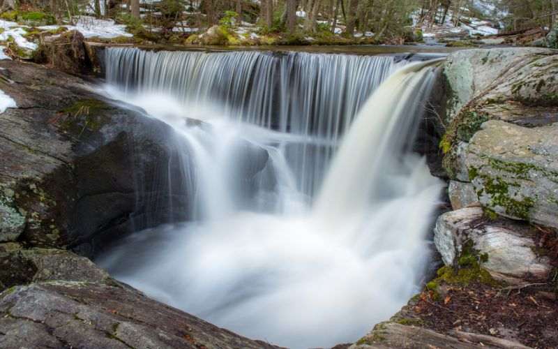 Waterfall Forest Timelapse rivers wallpaper