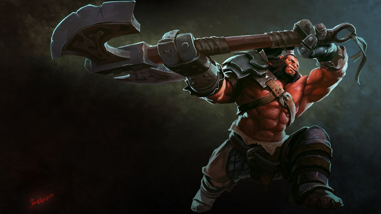 Axe Drawing Warrior wallpaper