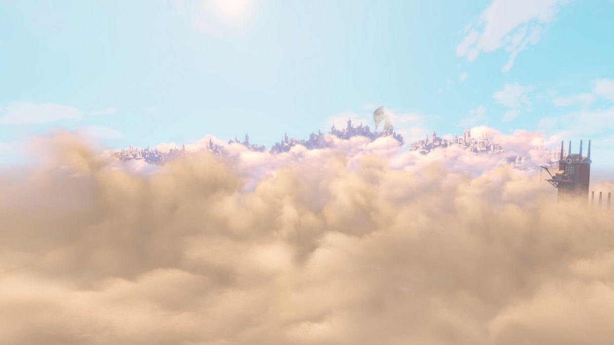 Bioshock Bioshock Infinite Clouds Steampunk wallpaper