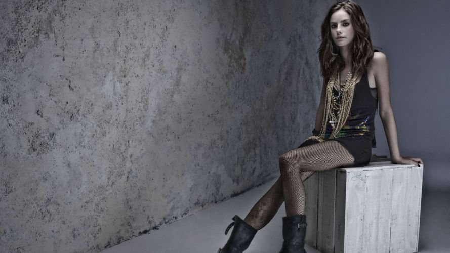 Brunette Stockings Kaya Scodelario wallpaper