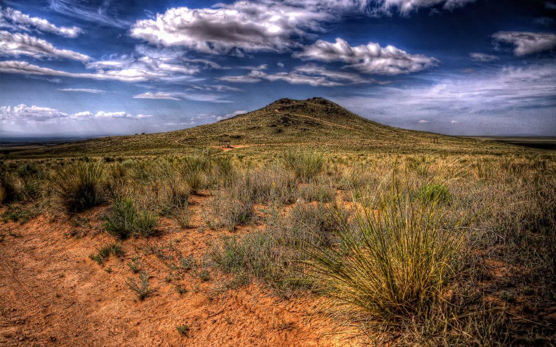 desert vegetation is scarce volcano wallpaper