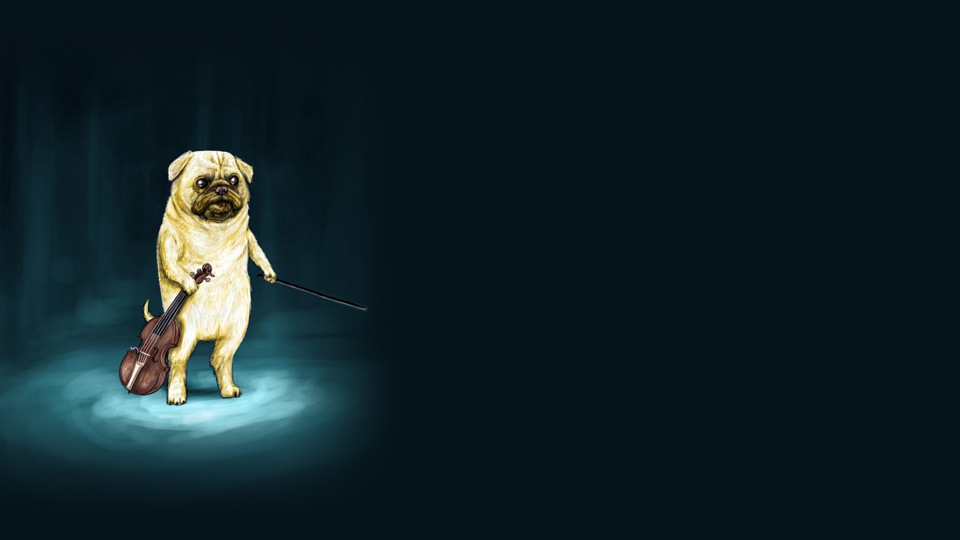 Dog Violin Drawing Wtf Dogs Humor Funny Music Wallpaper 1920x1080