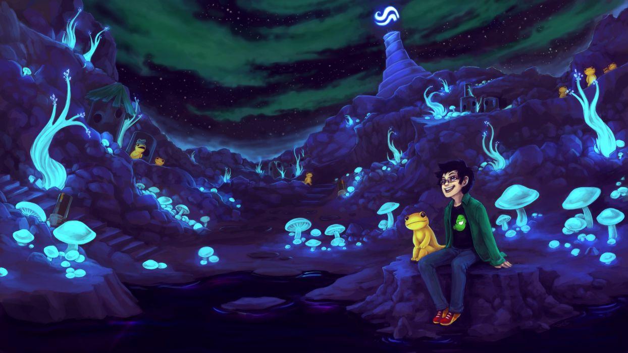 Homestuck Purple cartoons fantasy anime wallpaper