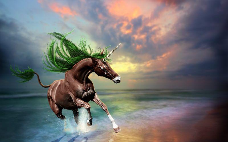 horse unicorn zakad 3d art wallpaper