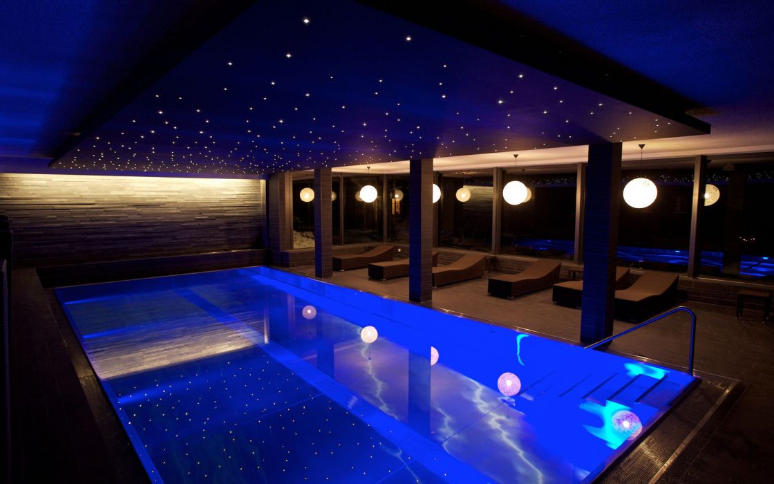 pool deck lighting interior pool wallpaper