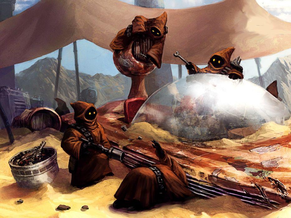 Star Wars Drawing Jawa wallpaper