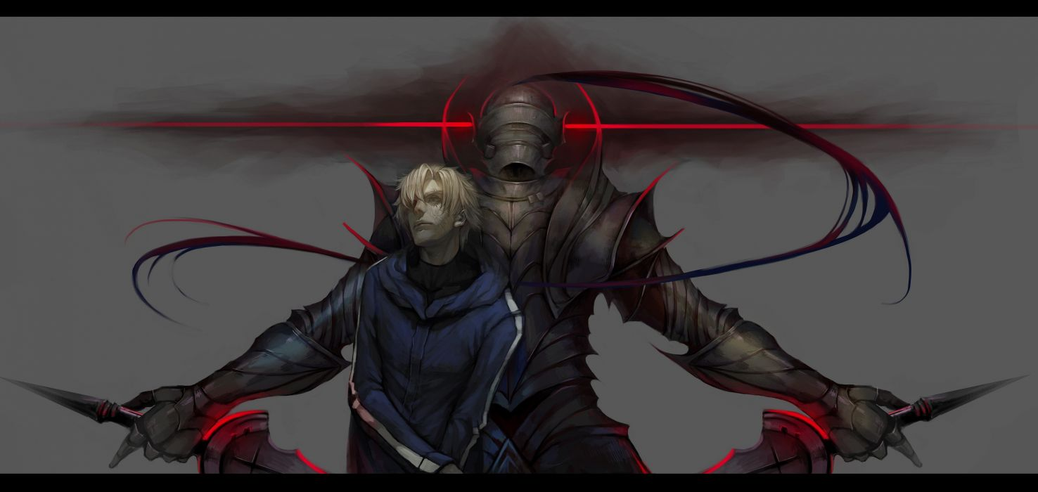 ao666 armor fate stay night fate zero male matou kariya short hair sword weapon zero berserker wallpaper