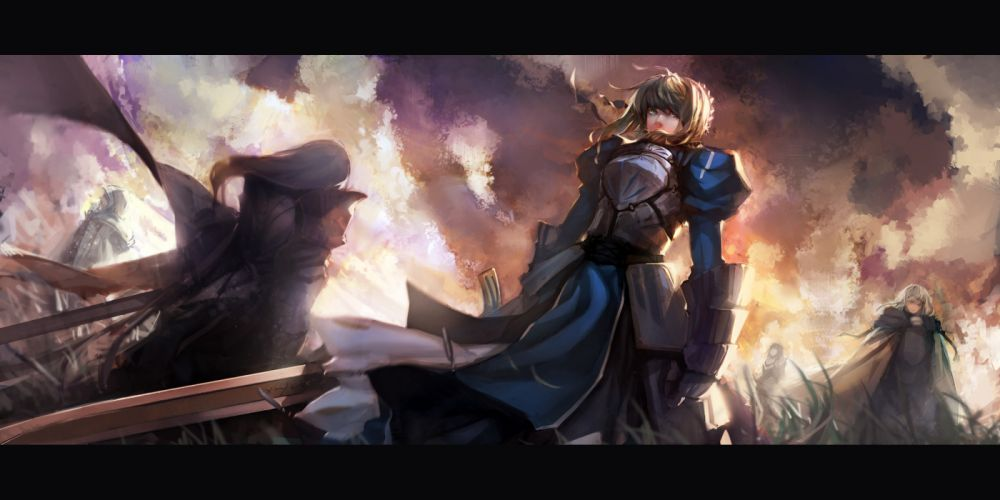 armor bedivere blueman dress fate stay night fate zero saber sword weapon zero berserker wallpaper