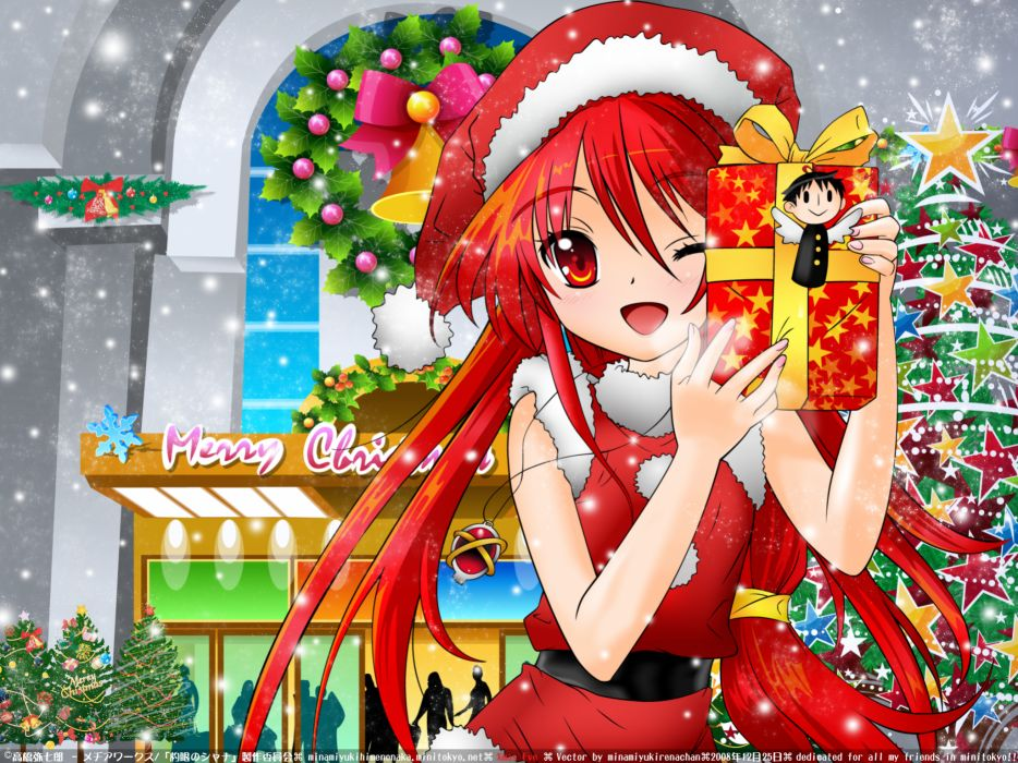 christmas shakugan no shana shana snow wallpaper