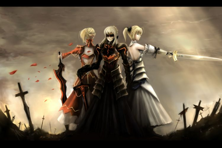 fate extra fate stay night nopnop saber sword weapon wallpaper