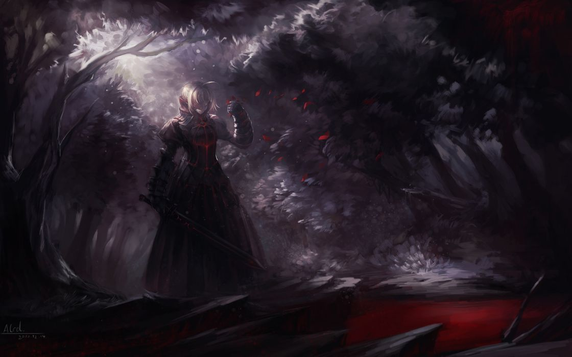 alcd fate stay night saber saber alter sword weapon wallpaper