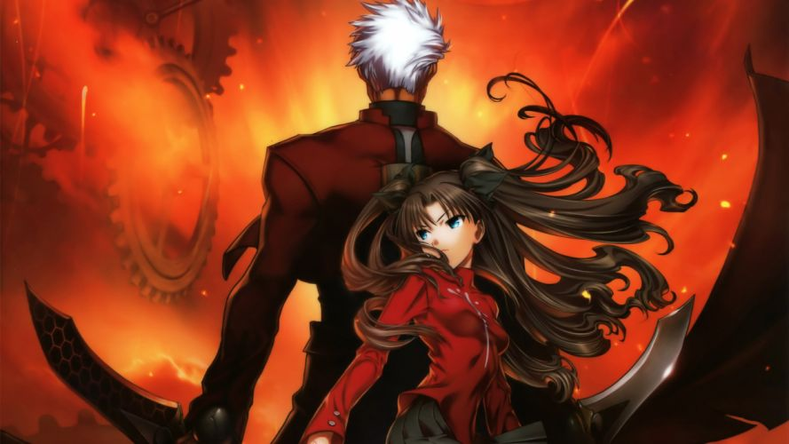 archer fate stay night sword tohsaka rin unlimited blade works weapon wallpaper