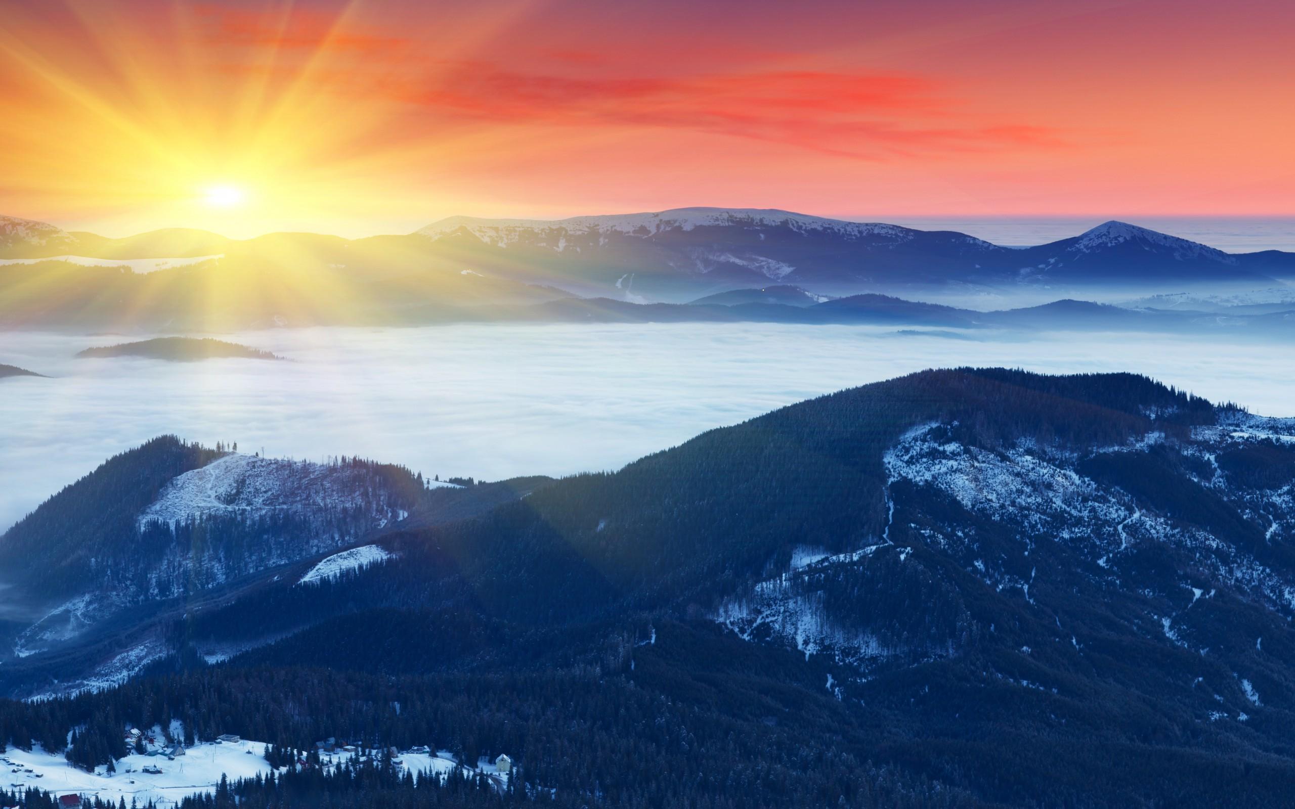 dreaming dawn lake mountain landscape beauty hd wallpaper