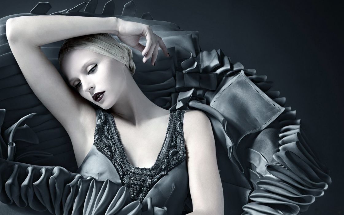 make-up model blonde women females girls face fashion wallpaper