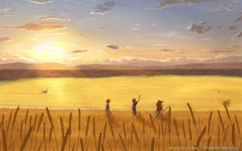 landscape scenic sword art online yuugure wallpaper
