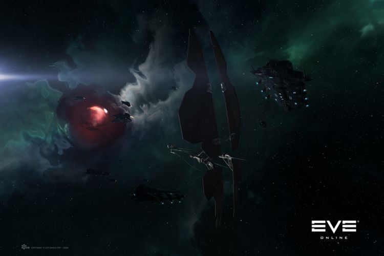 outer space Eve Online wormhole wallpaper