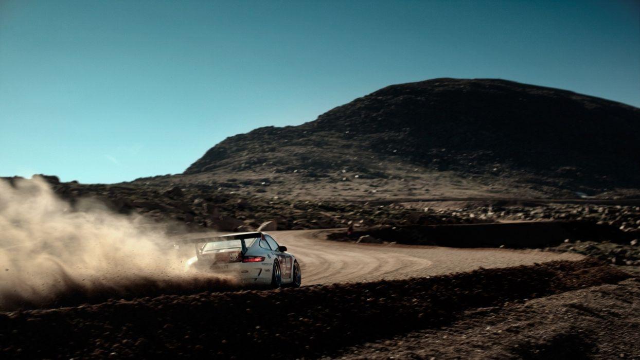 Porsche cars dust rally pikes peak rally cars rally car wallpaper