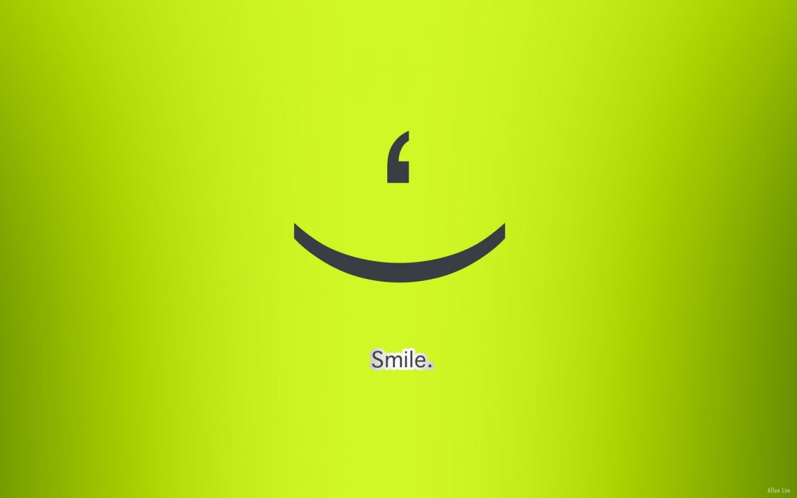 green text smiling simple background green background wallpaper