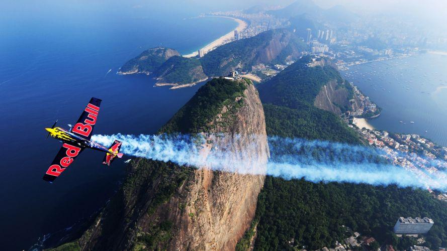 aircraft Rio De Janeiro contrails wallpaper