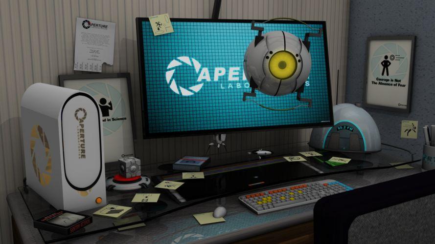Aperture Laboratories portal wallpaper