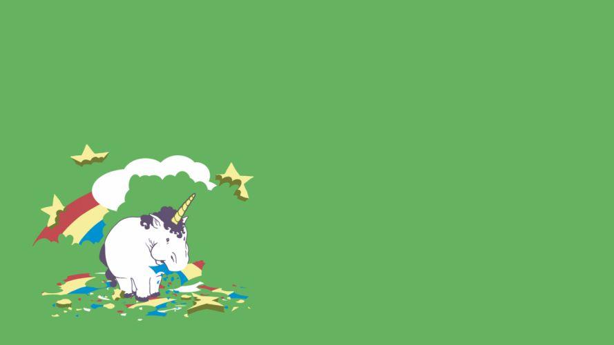 minimalistic humor unicorns funny simple wallpaper