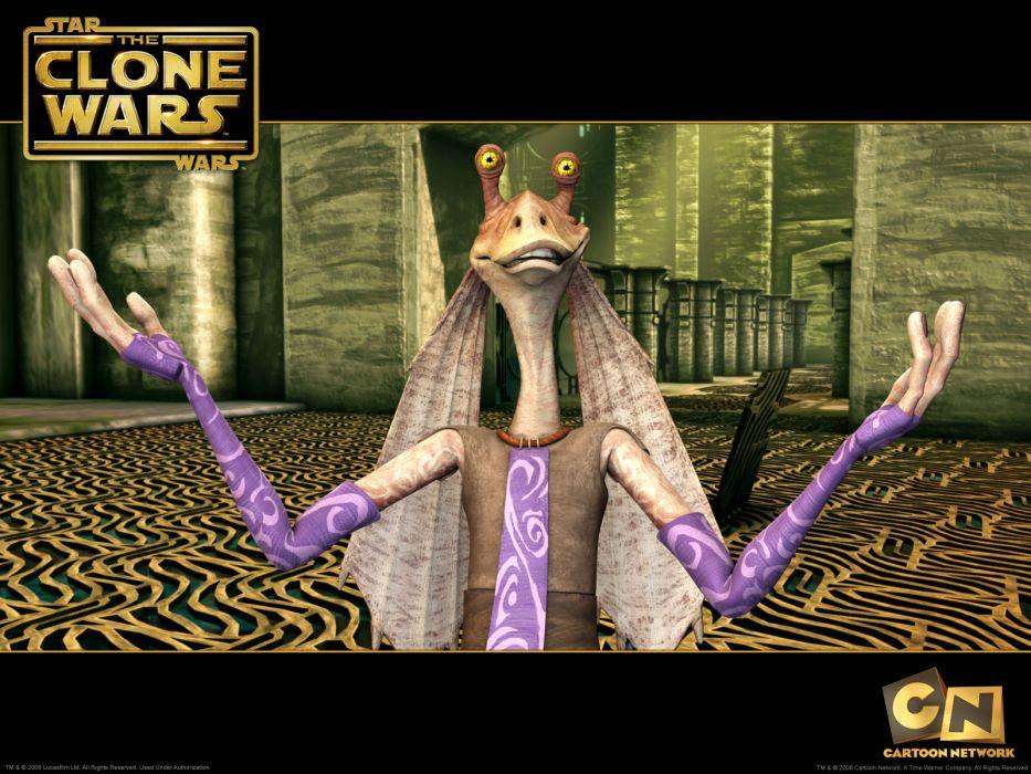 Cartoon Network Star Wars Clone Wars Jar Jar Binks wallpaper