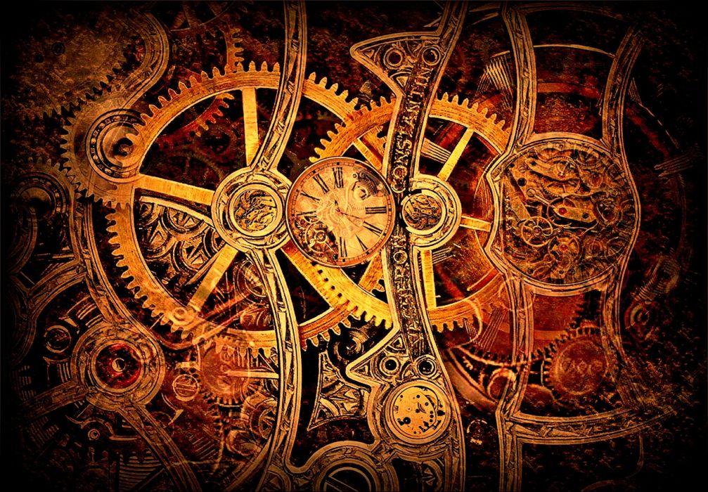 steampunk gears clockwork widescreen watch cogs wallpaper