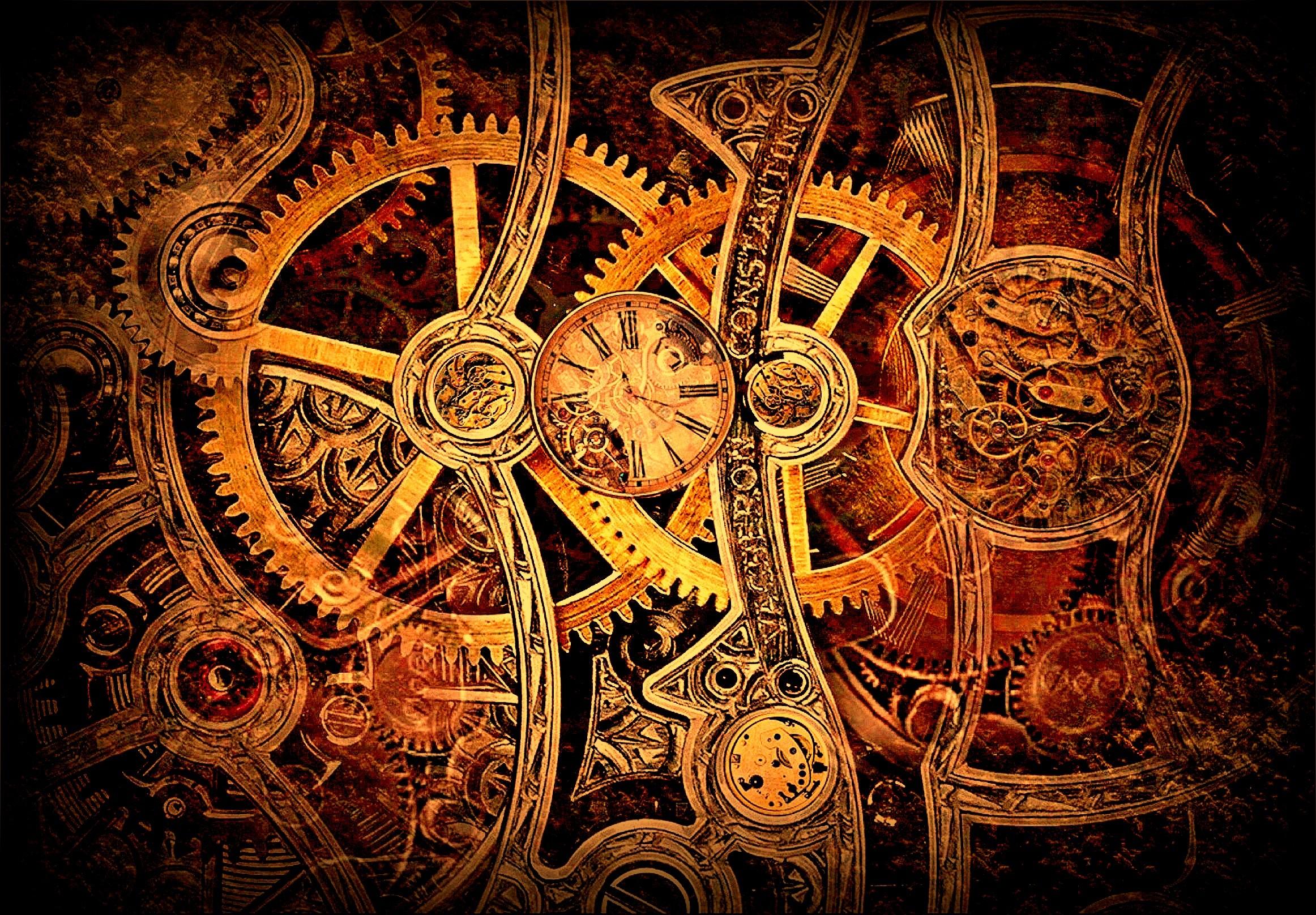 Clockwork Gears Drawing Steampunk Gears Clockwork