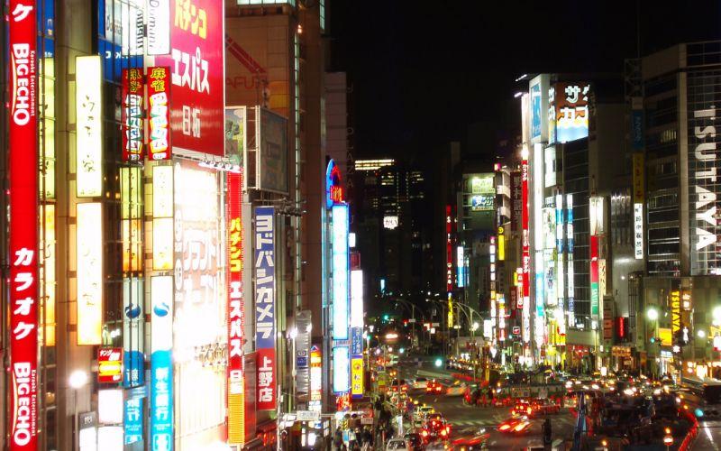 Japan signs neon lights wallpaper