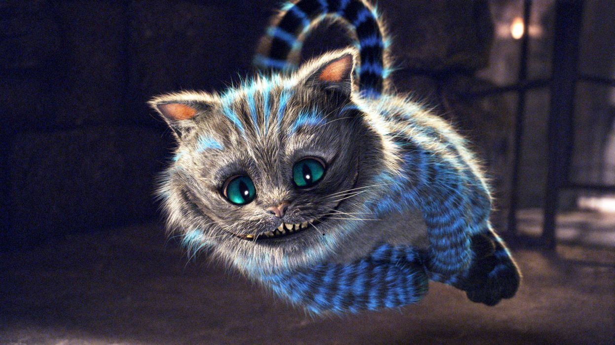movies cats Alice in Wonderland Cheshire Cat wallpaper