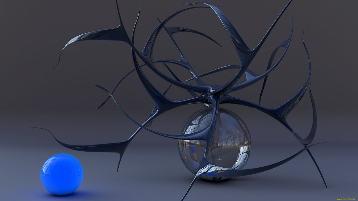 abstract spheres wallpaper