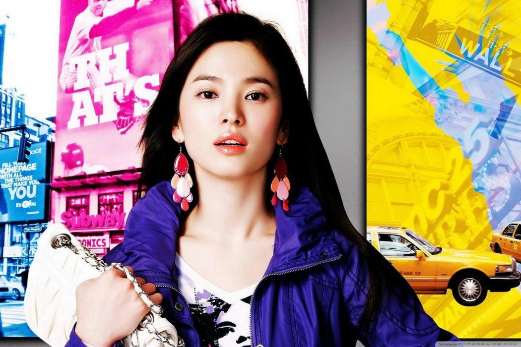 women models Asians song hye kyo wallpaper