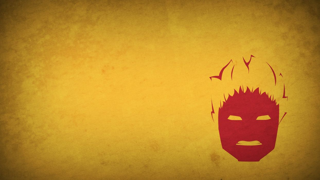 Fantastic Four superheroes Marvel Comics characters Human Torch yellow background blo0p wallpaper