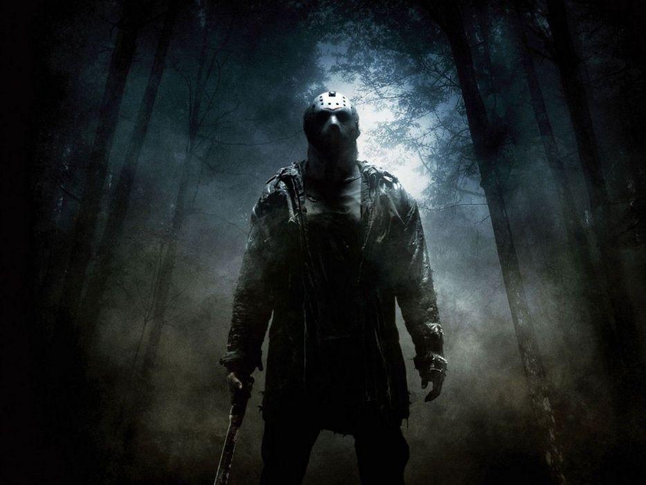 horror forest mist Jason Friday the 13th killers wallpaper