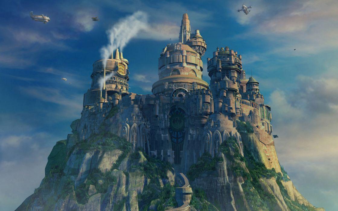 Castles Final Fantasy Ix Yoshitaka Amano Wallpaper