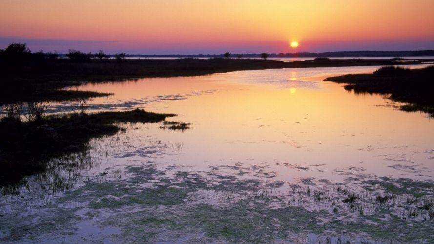 sunset islands wallpaper