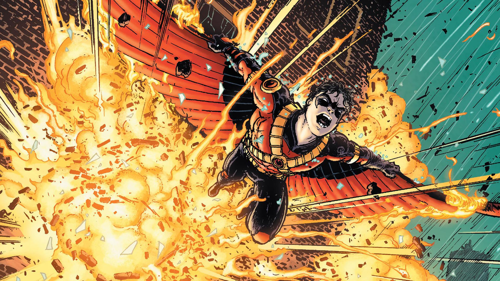 Batman Explosion DC-comics Blast wallpaper | 1920x1080 ...