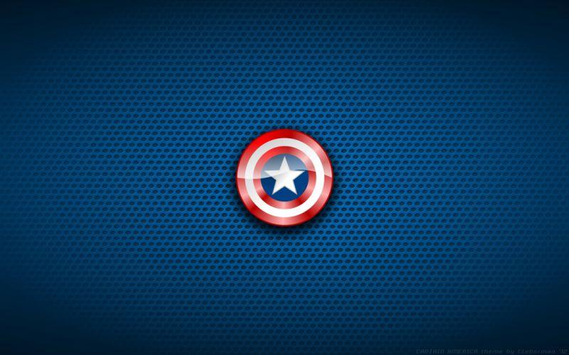 Captain America Shield Blue wallpaper